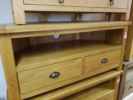 kent corner tv unit oak