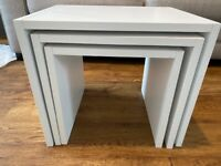 3 White Nest Tables £50 for sale ONO