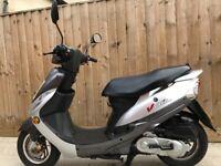 Peugeot v clic 50cc scooter moped 12 months mot