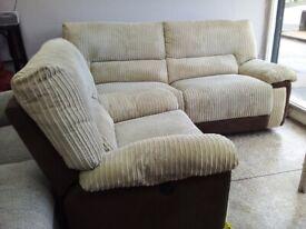 Newe lazy boy cream electric recliner sofas set