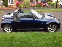 2005 Smart Roadster Convertible, Automatic, 698cc Petrol, Black, Only 40,600 Miles, Excellent Drive