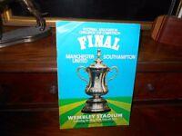 FA Cup Final football programme 1976 Man Utd. v Southampton