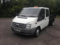 07/07 FORD TRANSIT 100T 350L DOUBLE CAB TIPPER
