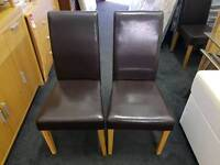 Faux Leather chairs x2. Only £15