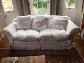 FREE WHITE 3 SEATER SOFA
