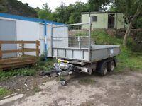 Twin axle Ifor williams tipper trailer