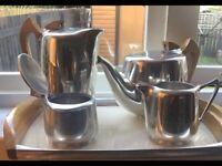 PICQUOT WARE FIVE PEICE TEA & COFFEE SET
