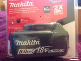 BRAND NEW Makita 6.0Ah battery genuine,original,lowest price ever,no offers accepted.