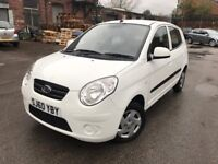 60 plate - White - Kia Picanto 1 - 1 Litre engine - £30/year tax - 9 months mot - 3 former keepers