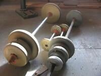 198 lbs. Weights and bars for sale or trade $1.00 per pound