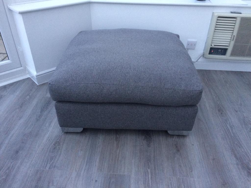 Barker & Stonehouse Floyd charcoal grey footstool