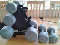 dumbells 1kg, 2.5kg and 4 kg