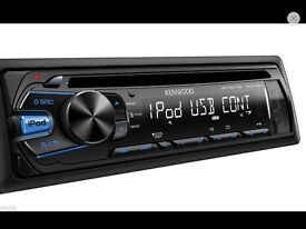 KENWOOD CAR CD PLAYER WITH USB AND JACK INPUT