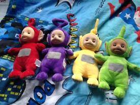Complete set of teletubbies