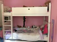 Feather & Black bunk beds ivory-white painted