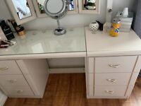 Dressing Table and matching bedside cabinets and mirror