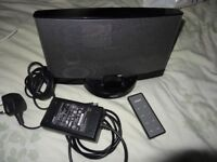 Bose SoundDock Series 2 docking station in black with bluetooth connection