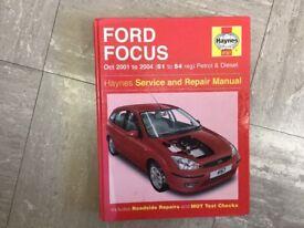 Haynes Ford Focus manual 2001 -2004