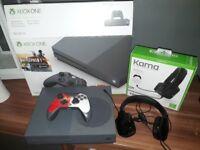 Xbox One S, 1 Pad, Headset