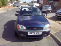 2001 Ford Fiesta Freestyle 1.25 petrol 5dr 1 owner from new 36000 miles 12 months MOT
