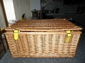 Selfridges Wicker Basket Unused Hamper/Picnic