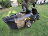 Ride on lawn mower. McCulloch Mini Rider 6562E. Briggs and Stratton Petrol Engine. Good condition