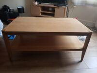 M&S SOLID WOOD COFFEE TABLE