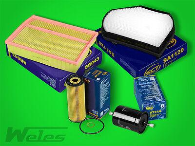 INSPEKTIONSPAKET MERCEDES W202 C 180 200 220 230 Luft- Pollen- Öl- Benzinfilter online kaufen
