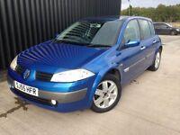 2005 Renault Megane 1.6 VVT Dynamique 5dr 2 keys 12 months mot may px