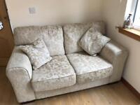 Sofa, snuggle chair and storage stool
