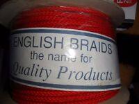 Brand new 5mm of 8 plait polyester braid 100 metres of English braid