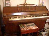 eavestaff pianette mini piano (model miniroyal) with nice stool