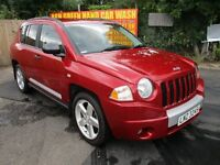 2008 JEEP COMPASS 2.0 LIMITED CRD 4X4 LOW 93K CRUISE LEATHER ALLOYS 6-SPEED TINTS A/C FSH PX SWAPS