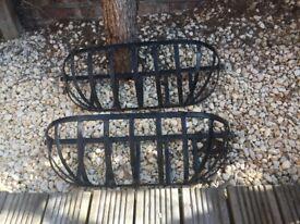 Pair of Hay Racks / Garden Wall Planters