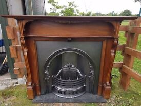 135 Cast Iron Fireplace Surround Fire Wood Arch Arched Antique Victorian Style