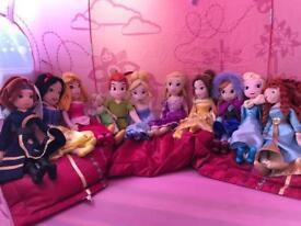 Little disney princesses teddies dolls set of 11!! Girl toys