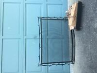 Fireplace screen and wood holder