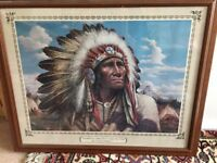 Painting of a native Indian