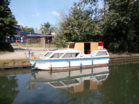 Canal / River 26 foot boat for sale, Viking 26 15hp 1987