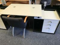Desk c/w Pedestal and Chair