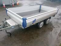 Ifor williams 10x5 eurolite drop side trailer has waterproof cover in excellent condition