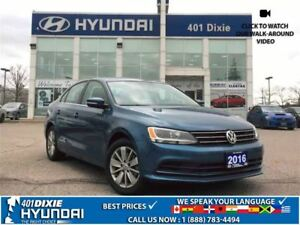2016 Volkswagen Jetta 1.4 TSI|SUNROOF|BACK-UP CAM|ALLOYS|BLUETOO