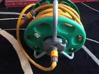 Garden water pipe with winch £10