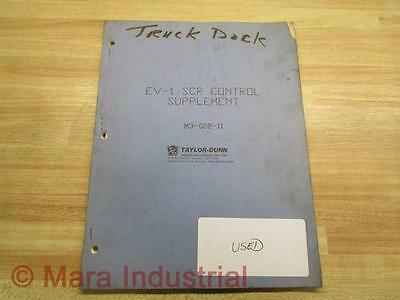 Taylor-dunn M3-002-11 Manual For Ev-1 Scr