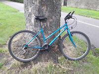 Woman-sized Raider mountain bike, Edinburgh city centre