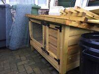Wooden Rabbit/ Guinea pig hutch