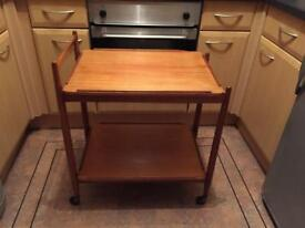 Teak tea trolley by (White & Newton, Portsmouth) Retro Vintage Mid Century