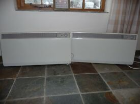 Pair of Dimplex electric wall mounted thermostatically controlled heaters