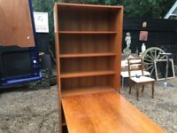 Tall bookcase with flap extension