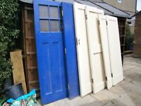 A selection of 1930's used external / internal doors. Made when quality meant something.